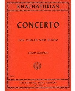 Khachaturian, Aram - Concerto for Violin and Piano - by David Oistrakh - International Music